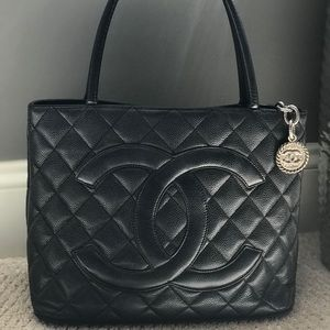 Chanel Quilted Caviar Purse